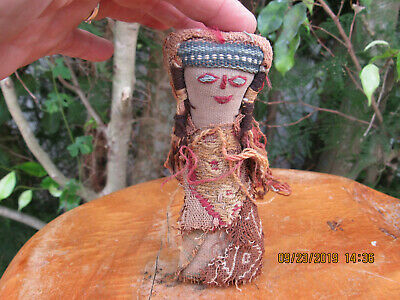 19th C. Peruvian Doll Made From Antique Pre Columbian Textiles. No Reserve!