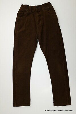 9 year M&S Indigo boys velvet brown trousers classic style