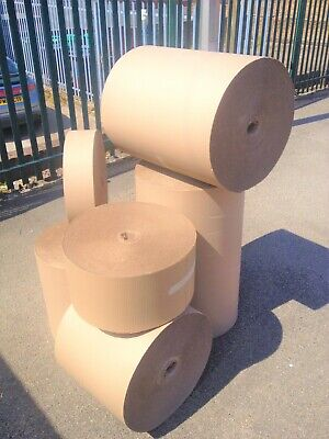 Brown Corrugated Cardboard Rolls All Sizes/Qty's Packing Paper Strong Durable