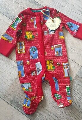 Mothercare Little Bird Jools Oliver Christmas Romper Playsuit All-In-One N/Baby