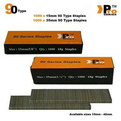 90 Type Staples: Size 15mm + 35mm ( MIXED 2000 Staple Handy Pack )