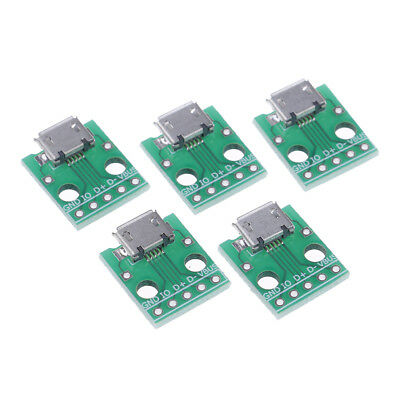 5pcs MICRO USB to DIP Adapter 5pin female connector B type pcb converter In vJ7