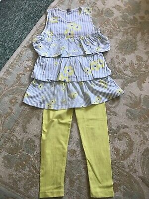 Girls Summer Top And Matching Leggins Age 4-5