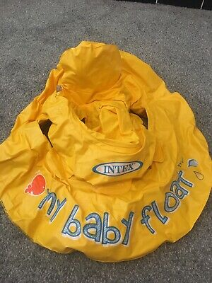 **Yellow Intex My Baby Float, 6-12mths, Used Once**