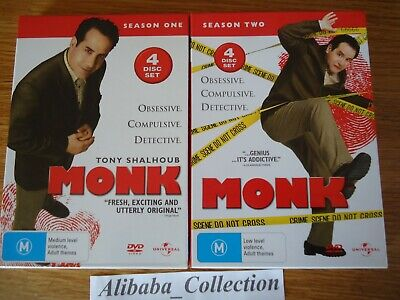 Coffret Dvd ** Monk ** Integrale Saison 1 2 Serie Lot