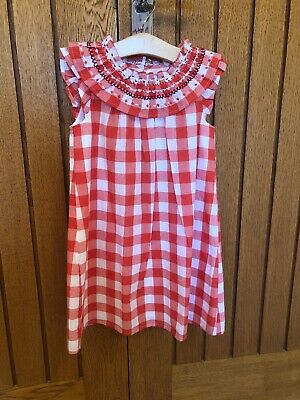 Next Girls Red And White Dress 3-4 Brand New With Tags