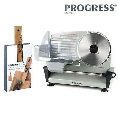 Progress COMBO-5663 Stainless Steel Electric Food Slicer with 3 Chopping Boards