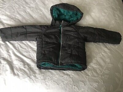 Polarn o Pyret Boys Unisex Grey Puffer Jacket 1.5-2 Years Great Condition