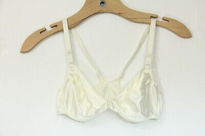 Victorias Secret Second Skin Satin Bra sz 34B Vintage women VS sissy 90s ivory