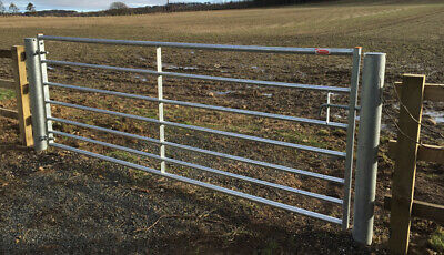 Ritchie 7 Bar Metal Field Gate - 3ft - 16ft Galv