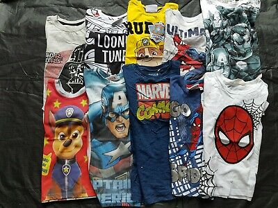 Primark Star Wars Paw Patrol Looney Tunes Spiderman boys t-shirt vest 2-8 years