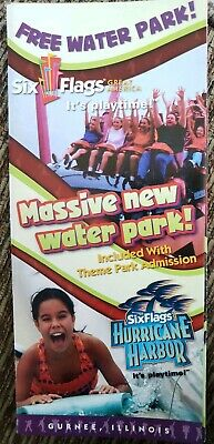2005 Six Flags Great America Amusement Park Brochure Map Guide Pamphlet