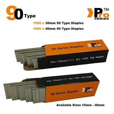 90 Type Staples: Size 30mm + 40mm ( MIXED 2000 Staple Handy Pack )
