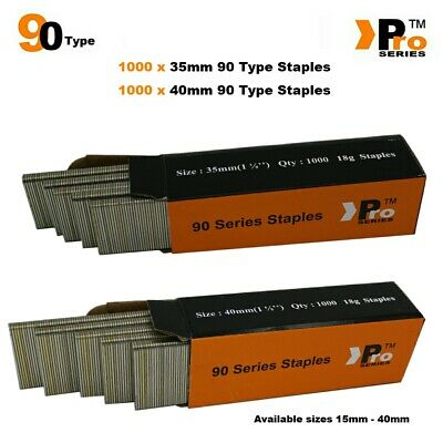 90 Type Staples: Size 35mm + 40mm ( MIXED 2000 Staple Handy Pack )