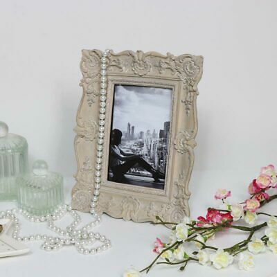 Ornate grey photograph picture frame French shabby chic photo display gift decor