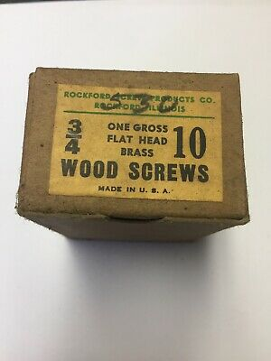 VINTAGE SOLID BRASS WOOD SCREWS W/ FLAT SLOT Must Have For Antique Restoration