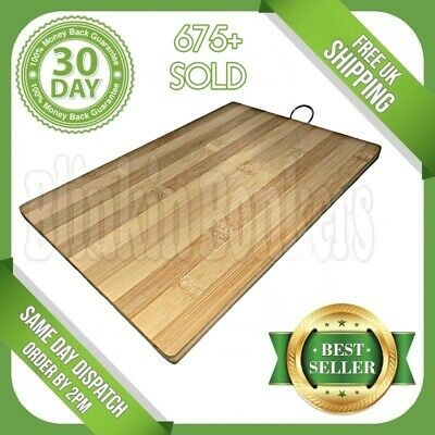 Bamboo Wooden Chopping Board Wood Kitchen Food Cutting Slicing Serving Platter