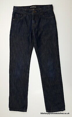 11 year Urban outlaws boys jeans denim straight dark blue
