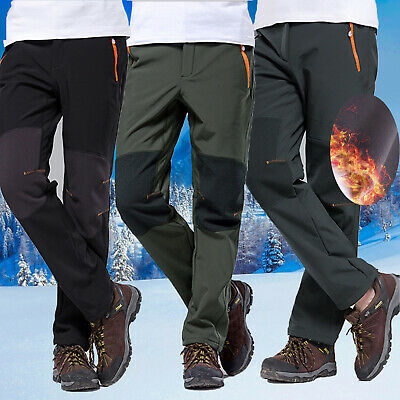 Men SOFT Shell Outdoor Trousers Thick Sugan Velvet Sport Pants Waterproof Jogger