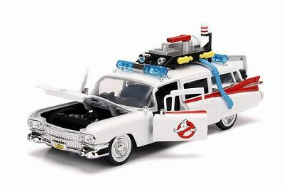 Voiture CADILLAC Miller Meteor Ghostbusters ECTO 1 Ambulance SOS Fantômes 1/24