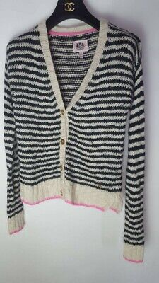 Juicy Couture Girls Striped Cardigan Wool Alpaca Mix Age 12-14 years