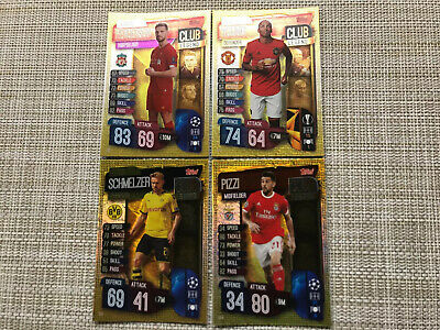 Topps Match Attax 19/20 Champions & Europa League Club Legends X 4 Cards