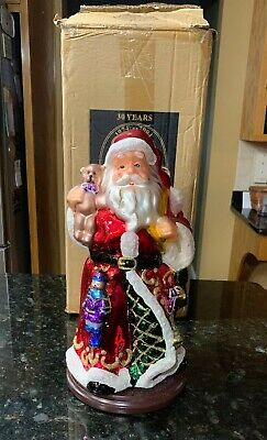 Thomas Pacconi Glass Christmas Santa Claus In Original Box