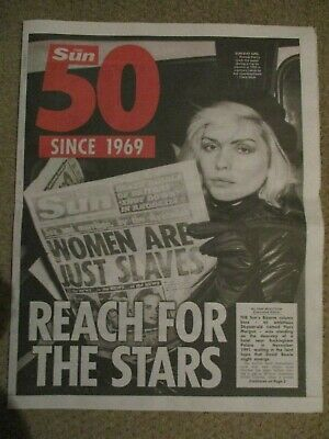 New UK The Sun 50 Years Of Showbiz Scoops Souvenir Pullout Debbie Harry Madonna