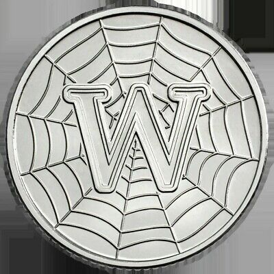 A - Z Alphabet 10p Coin Hunt 2018 Letter W WORLD WIDE WEB (Rare Ten Pence)