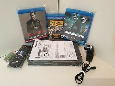 PANASONIC DMP-BDT167EB Smart 3D Blu-ray Player With ***3 Great Blu-ray Movies***