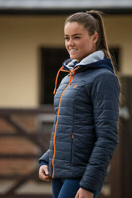 Clearance Deal Mark Todd Rhapsody Ladies Quilted Jacket Small Navy Size 10