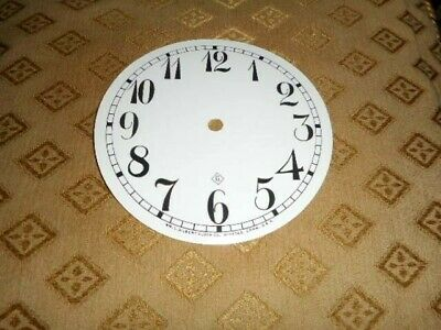 For American Clocks- Gilbert Paper (Card) Clock Dial-129mm M/T-  WHITE-Spares