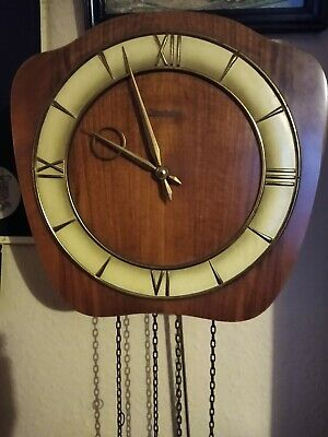 Rare German Kieninger Art Deco Wall Clock. Keeps Excellent Time!