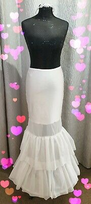 Brand New Ivory Fishtail Style Underskirt / Hoop / Petticoat UK STOCK ~All Sizes