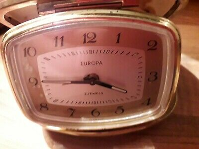 Two Vintage Alarm Clocks Sold As A Job Lot Collectible Or Could Be Used As Parts