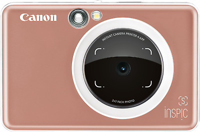 Brand New - Canon Inspic S Instant Camer Printer - Rose Gold - Zv-123A - From $1