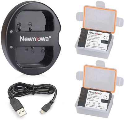 Newmowa BLF19 Replacement Battery 2 pack and Dual USB Charger for Panasonic