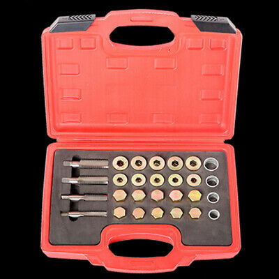 64Pcs Oil Pan Thread Repair Kit Sump Gearbox Drain Plug Tool Set W8Y7