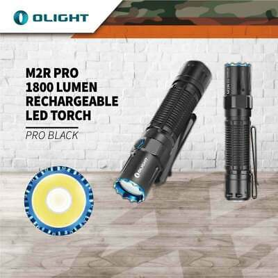 Olight M2R Pro Warrior 1800 Lum Rechargeable Tactical Led Torch 300M Beam Throw