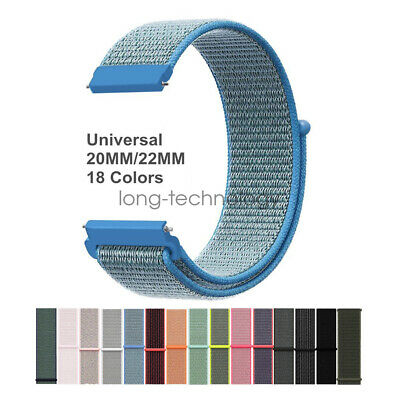 Universal Quick Release 20mm 22mm Woven Nylon Sport Loop Watch Band Strap