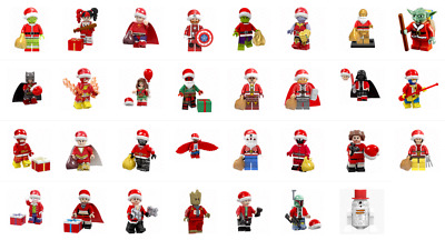 Holiday Christmas Dc Marvel Star Wars X-Men Gotg Avengers Grinch Minifigure Lego