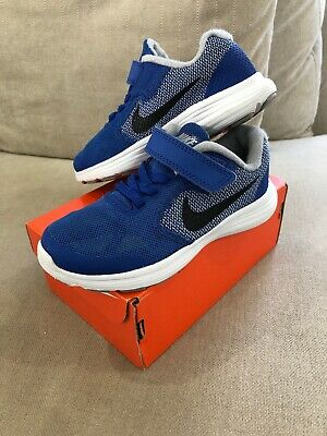 Nike Kids Revolution Runners Blue 10.5c US Kids Shoes Sneakers Trainers [R2]
