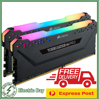 Corsair Vengeance PRO 32GB 2x16GB DDR4-3200Mhz RGB Desktop Memory RAM Kit Black
