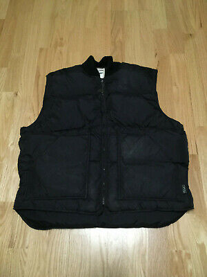 Vintage Walls Blizzard Pruf Down Puffy Black Vest size Large USA