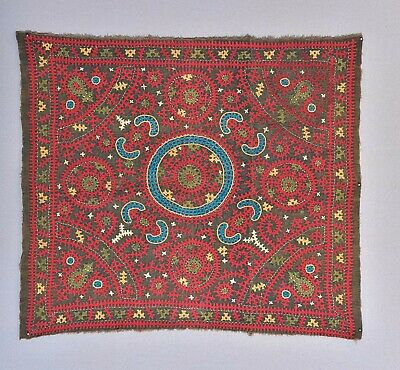 Rare Antique Armenian Anatolian Marash Embroidery Yastik