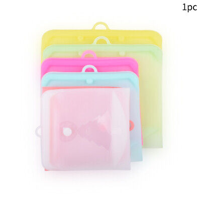 Reusable Keep Fresh Snack Bag Leakproof With Date Pointer Silicone Food Storage