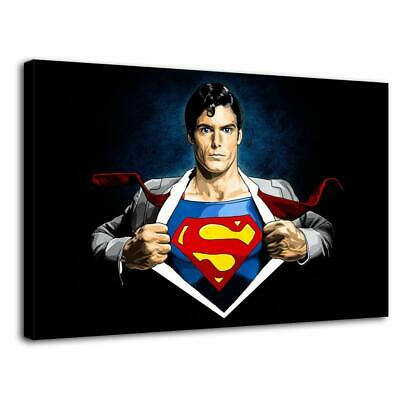 """12""""X20"""" Superman HD Canvas prints Painting Home decor Picture Wall art Poster"""