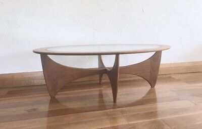 STYLISH G PLAN ASTRO OVAL COFFEE TABLE 70s MID CENTURY MODERN DESIGNER VINTAGE