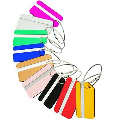 New! Aluminium Travel Luggage Tag Suitcase Label Name Address ID Baggage Bag Tag