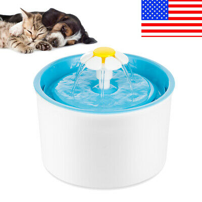 Automatic Dog Cat Pet Water Drinking Fountain Waterer Bowl Drink Dish Filter US